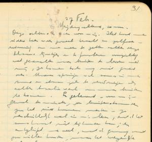 Dagboek Etty Hillesum 27 feb 1942