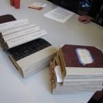 Franstalige dagboeken uit de Eerste Wereldoorlog, door de schenker met de hand ingebonden